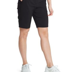 WOMENS BLACK SIZE 6 IZOD GOLF BERMUDA SHORTS NWOT